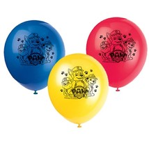 "Paw Patrol 8 Ct Latex Balloons 12"" Birthday Party Chase Marshall - $4.74"