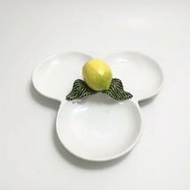 Subtil Caldas da Rainha Portugal Lemon Divided Dish Chipped  - $27.16