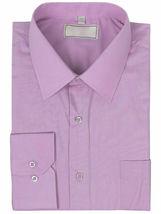 Men's Solid Long Sleeve Formal Button Up Standard Barrel Cuff Dress Shirt image 12