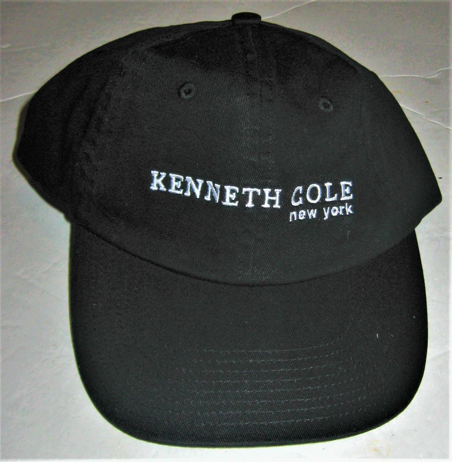 Kenneth Cole Baseball Cap Black with White Graphics