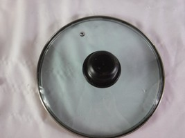 """Replacement  Glass Pan Lid  9 1/2"""" Across Plastic Screw On Handle Vented... - $7.91"""
