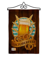 Oktoberfest Burlap - Impressions Decorative Metal Wall Hanger Garden Fla... - $33.97