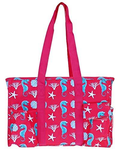 Multi Pocket Sea Horse Utility Bag Tote Scarlett's Bags Brand