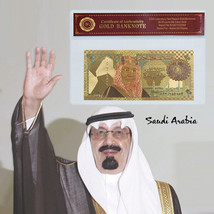 WR Saudi Arabia Color Gold 20 Riyals Commemorative Banknote Middle East ... - $3.31