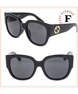 GUCCI GG0142SA Black Gold Chunky Oversized Classic Sunglasses 0142 GG3836 - $287.10