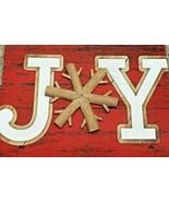 "BRAND NEW Rustic Sign Joy Christmas Decor Wood 14"" x 10"" Garden Stake Sign - $24.74"