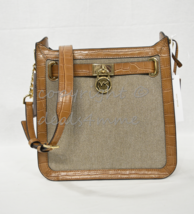 Michael Kors Hamilton Canvas/Leather Medium North South Messenger/Should... - $179.00