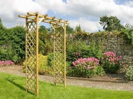 Garden Wooden Arch Patio Climbing Plant Trellis Wedding Path Pergola Arb... - $141.45