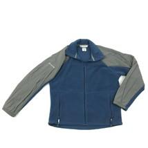 Columbia Mens Fleece Jacket Full Zip Nylon Shoulders Size Medium Sleeve ... - $16.40