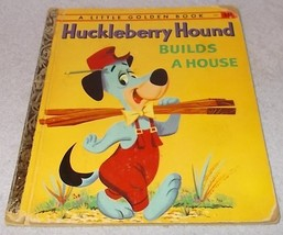Vintage Little Golden Book Huckleberry Hound Builds A House 1959 - $5.00