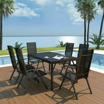 vidaXL Outdoor Dining Set Table and Folding Chairs 7 Piece WPC Garden Patio - $367.99