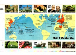 USPS - 10 stamps - .29 cents each 1941: A World at War - $6.95