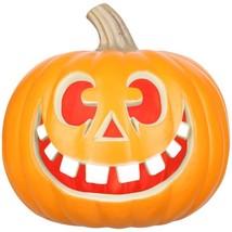 Halloween Lighted Big Teeth Happy Face Blow Mold Pumpkin, 9'' - $29.99