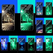 Glow In The Dark Phone Case Luminous Shell For Huawei Glowing Night Glass Case - $12.21