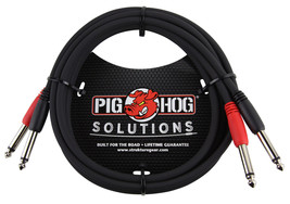 "Pig Hog PD-21406 6' 1/4"" Mono Male to 1/4"" Mono Male Dual Cable - $11.95"
