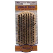 Annie Hard Military Brush Light Brown 50% Hard Boar and Nylon Bristles #2062 - $4.90