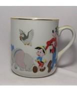 Walt Disney Productions Mickey Mouse Mug Cup Vintage DD Japan Dumbo Porc... - $10.87