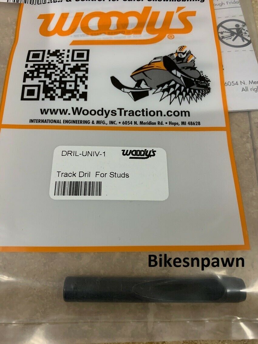 Woodys Universal Snowmobile Track Stud Installation Drill Bit