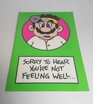 """Vintage Super Mario Brothers Greeting Card Nintendo 1989 - """"Sorry to Hear..."""" - $9.99"""