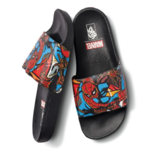 Vans Spider Man Marvel Slides Orginal Packaging Mens Flip Flops Limited Size 8 9 - $62.53