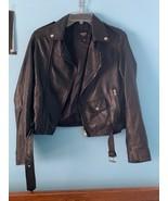 Barney's Originals black Real leather jacket   size 12 - $109.29