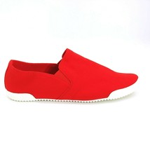 Lands' End Womens 483207 Stretch Slip-On Shoes Textile Flats Red 11 - $24.74