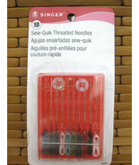 10 Singer 1925 Sew Quik Pre Threaded Sewing Needles - $5.93