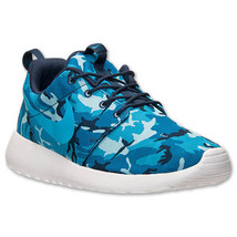 Nike Roshe Run One Print Camo Men's Trainers Shoes Blue Navy UK-8.5 Genuine - $83.73