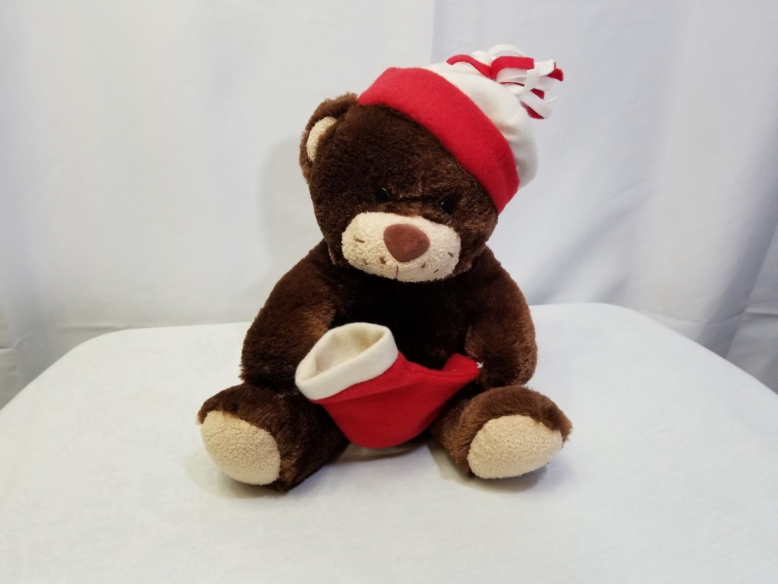 917e62b6ee7ef S l1600. S l1600. Dan Dee Collectors Choice Christmas Bear Plush Red Hat  and Stocking Brown Teddy