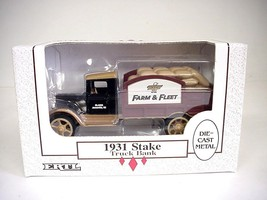 Ertl 1931 Stake Truck Bank Die-cast Metal Farm & Fleet, 1/34 Scale, #B690 - $17.81
