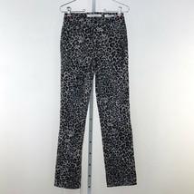 Women's Gray Jones New York Sutton Straight Animal Print Jeans sz 4 - $27.95