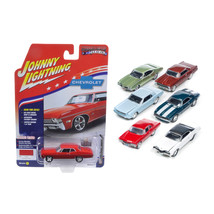 Muscle Cars USA Set of 6 cars 1/64 Diecast Model Cars Johnny Lightning J... - $64.78