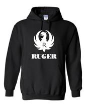 Ruger White Logo Hoodie Sweatshirt Pro Gun Brand 2nd Amendment Rifle Sho... - $31.49