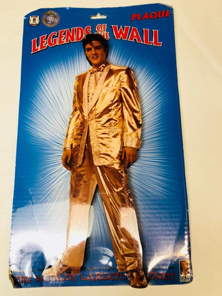 Primary image for New Elvis Presley King Fridge Magnet  Gold Lame Giant 14 1/2 inches  Polar