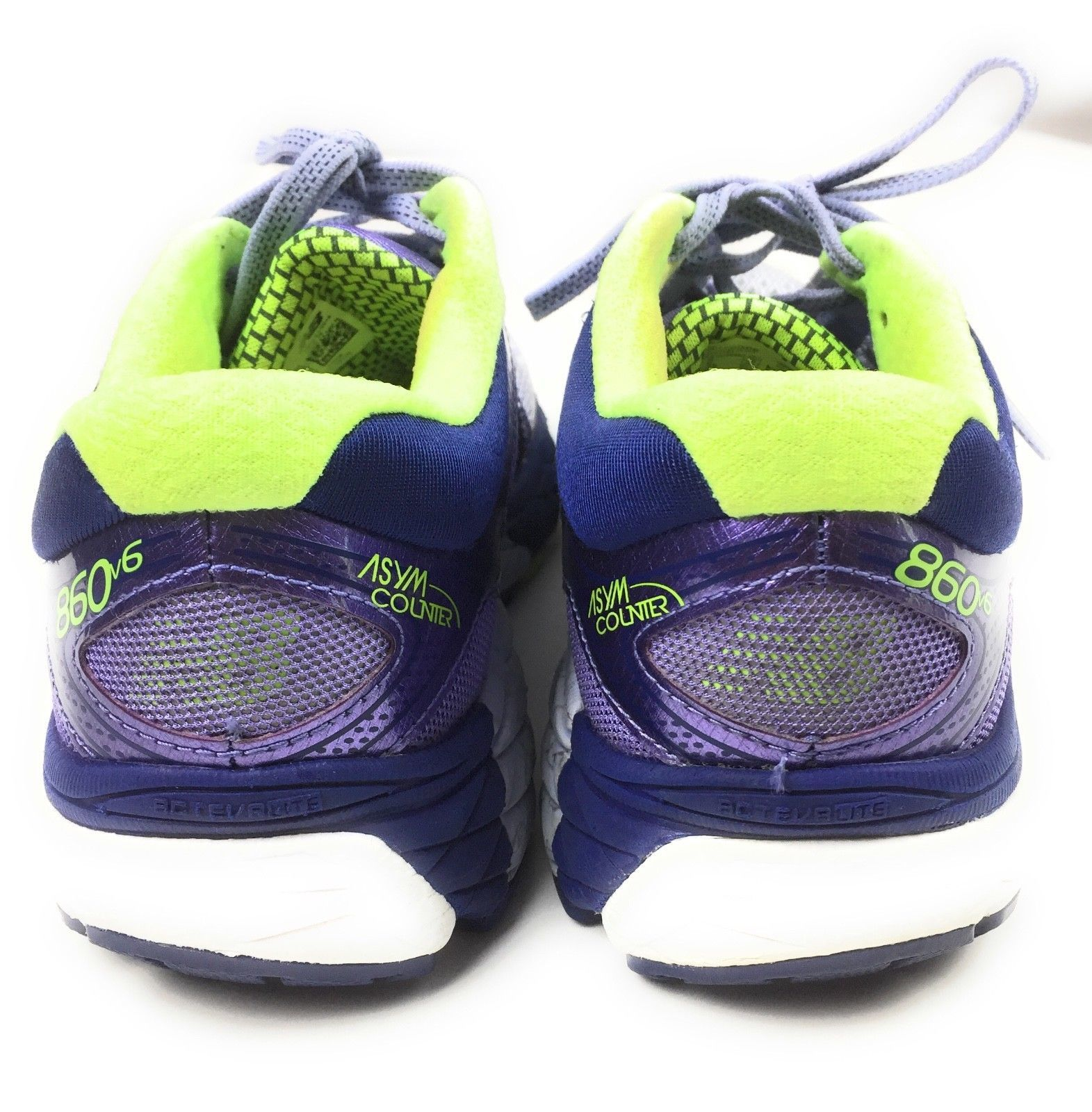 New Balance 860v6 Athletic Running Shoes W860GP8 Purple Green Women's Size 8 US image 5