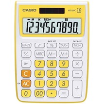 CASIO(R) MS-10VC-YW 10-Digit Calculator (Yellow) - $27.27