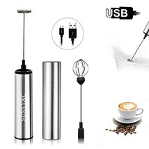 Sunnyac USB Rechargeable Milk Frother Handheld, Portable Electric Coffee... - $30.86 CAD