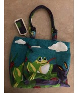 Frog & Lady Bug Tote Bag Lilly Pads, Bumble Bee, With Pockets  - $39.99