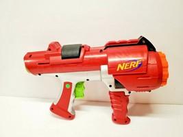 NERF Dart Tag Hyperfire Barrel Gun Blaster Red Rotating Shot Hasbro -Free Ship - $21.73