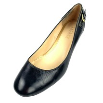 "LAUREN Ralph Lauren ""Salma"" Black Leather Round Toe Career Pumps Size 9.5 B - $18.80"