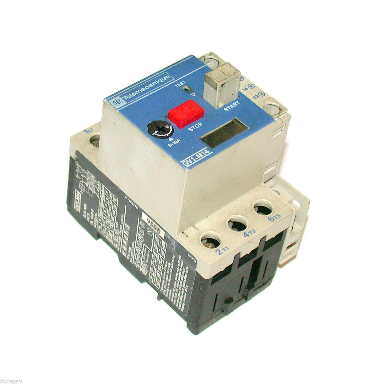 Telemecanique Motor Overload Relay Model Gv1 M14 2