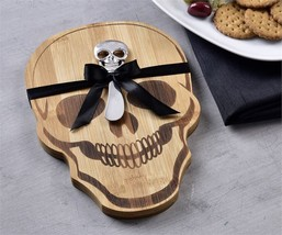Skull Cheese Board & Spreader Set Halloween Table Decor