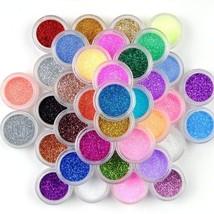 45 Colors Eyeshadow Makeup Nail Art Pigment Glitter Dust Powder Set