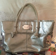 """KATE SPADE"" AUTHENTIC Tote Purse Silver Rope Handles Beach Summer Large - ₨6,559.98 INR"
