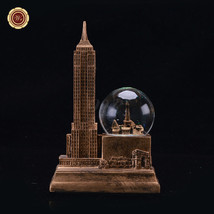 """WR 7"""" Empire State Building Snow Globe Water Globe Dome Resin New York S... - $21.38"""