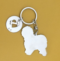 Old English Sheepdog Custom Keychain.  Dog Breed Jewelry.  OES key ring.  Memori - $18.00