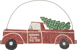 PBK Christmas Decor - Bringing Home The Tree Vintage Truck Sign - $13.95