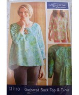 Indygo Junction Pattern Gathered Back Top Tunic IJ1110 NEW Amy Barickman... - $14.99