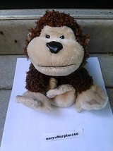 Webkinz Ganz Brown Cheeky Monkey Plush Stuffed Animal Shaggy HM080 - $9.89
