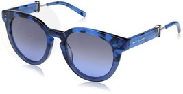 Marc Jacobs Women S Marc129S Round Sunglasses Blue Havana Gray 50 Mm Ships Free - $279.97